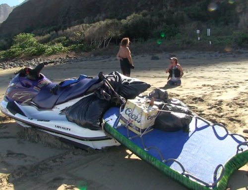 Kalalau Beach: DLNR Arrests Jet-Ski Operator, Cites 70 Illegal Campers, Airlifts Tons of Trash (w/ video)