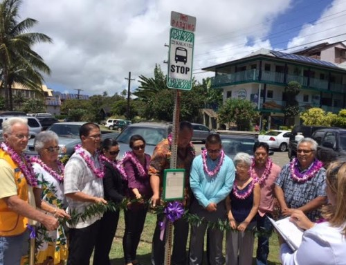 Blessing Held for Phase Two of Islandwide Bus Shelter Project