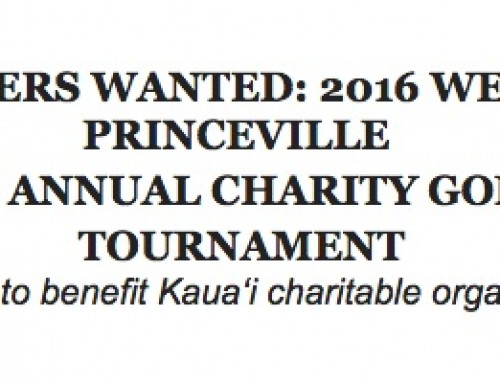 Golfers Wanted: 2016 Westin Princeville Charity Golf Tournament