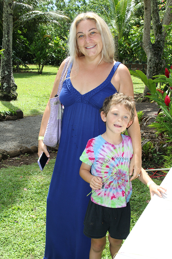 Janine Holstein and son Jotall, of Kapa'a