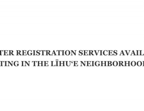 Late voter registration services offered Aug. 3-11