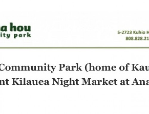 Anaina Hou Community Park (home of Kauai Mini Golf) to present Kilauea Night Market at Anaina Hou
