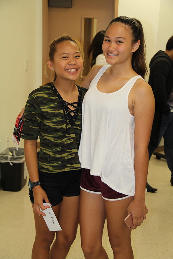 Anuhea Coon, left, and Napua Canales