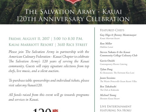 The Salvation Army of Kaua'i Celebrates 120 Years Of Doing the Most Good in Kaua'i