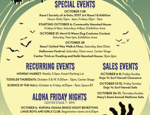 Kukui Grove's Calendar of Events – October 2017