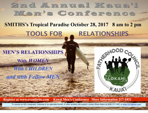 County of Kaua'i, Kaua'i Fatherhood Council Team Up to Host Second Annual Men's Conference