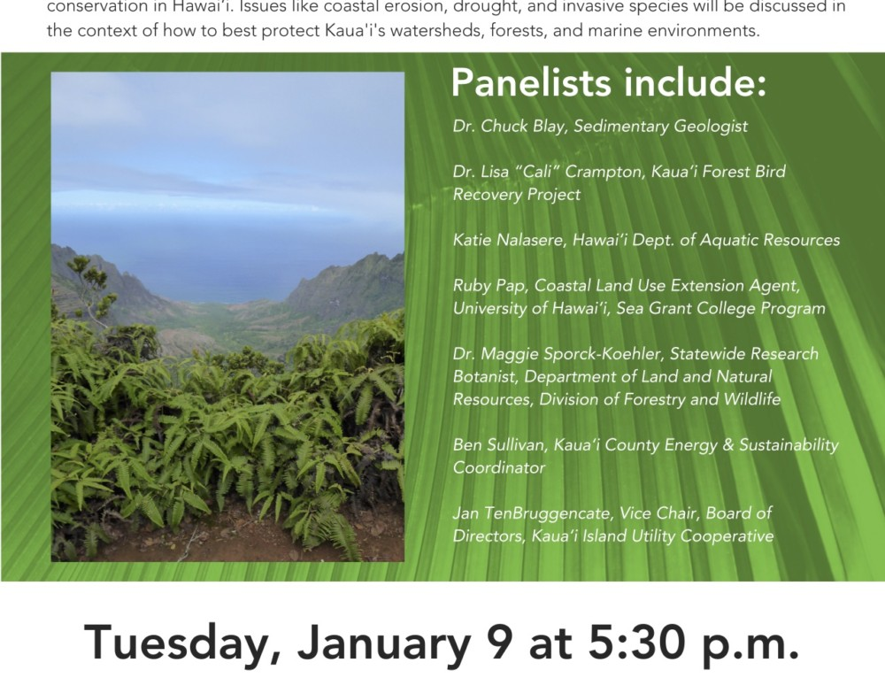 Earth Matters Public Lecture Series – Climate Change and Conservation Panel Discussion at KCC