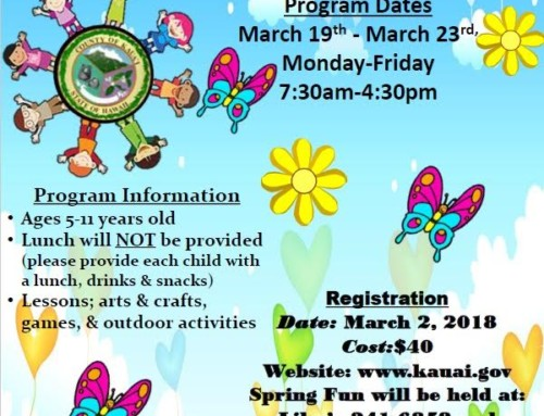 Online Registration for Spring Fun Program set for March 2