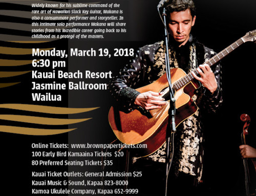 For Kauai Calendar Events for March 2018