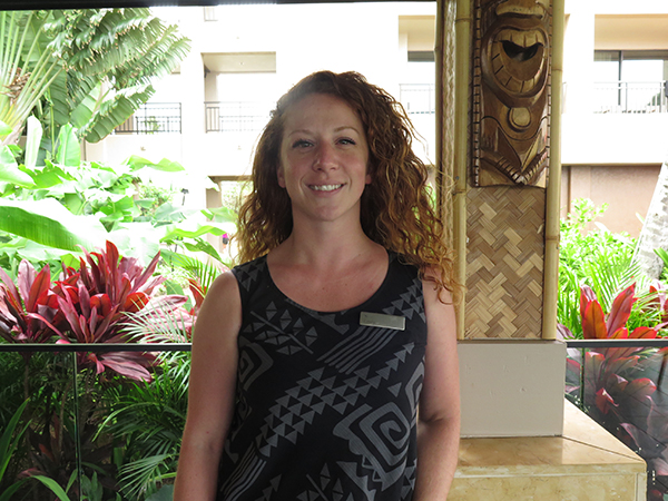 Lava's on Poipu Beach manager Emily Horn wants Kaua'i to know that Lava's seek to represent 'ohana in service, food and the comfort of beach surroundings, and also that she works with a fantastic staff who deserve credit.