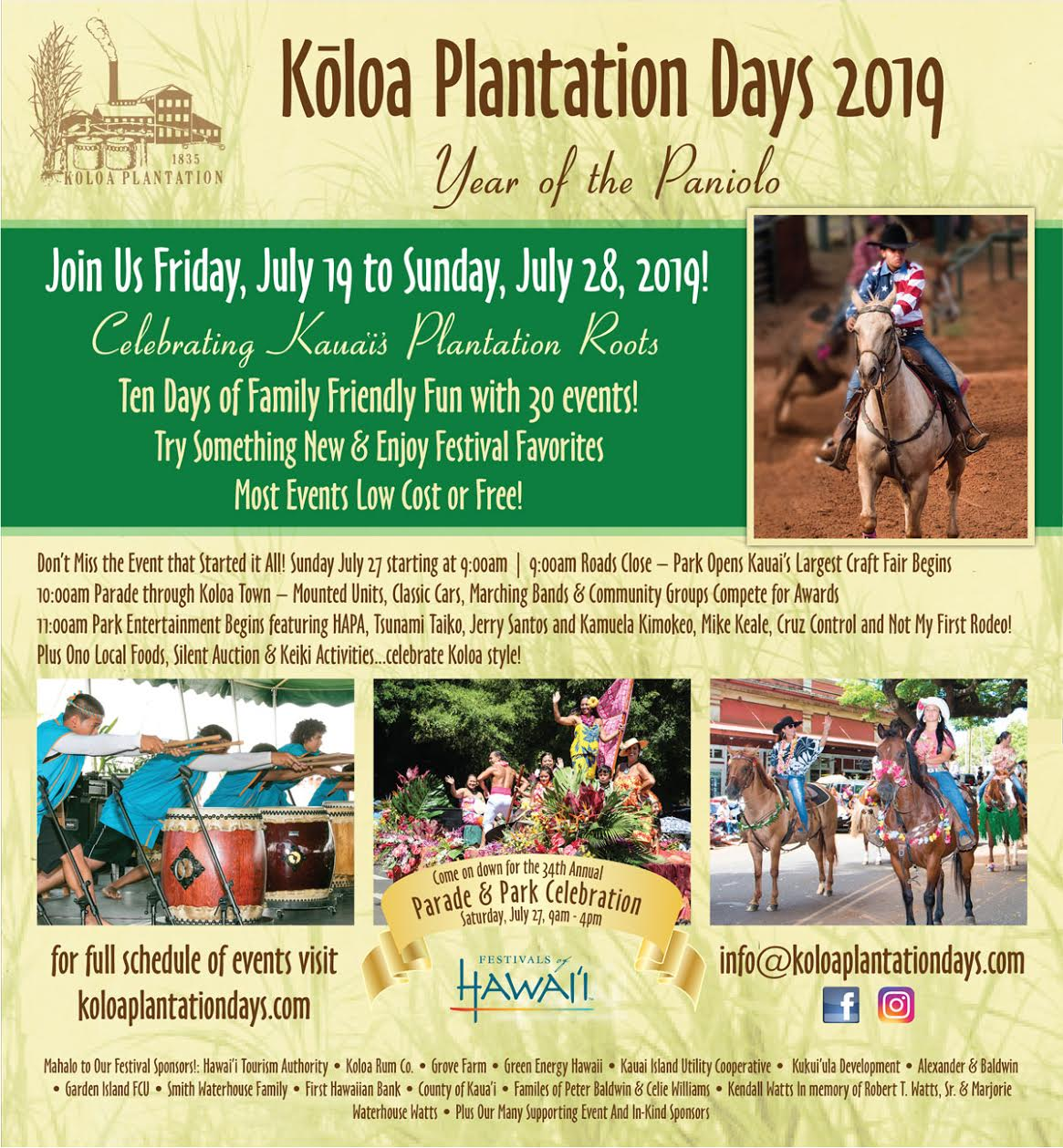 For Kauai Calendar Events for August 2019