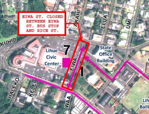 Portion of 'Eiwa Street to close for reconstruction work from July 31 to Sept. 06