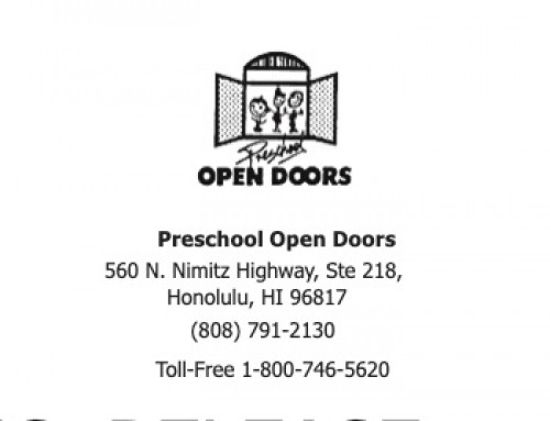 Preschool Open Doors Program Accepting Applications for Tuition Assistance