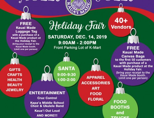 Kaua'i Made Holly Jolly Holiday Fair set for Dec. 14